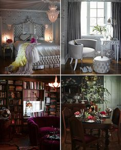 Dita Von Teese home - would totally take my clothes off to live like this. :D
