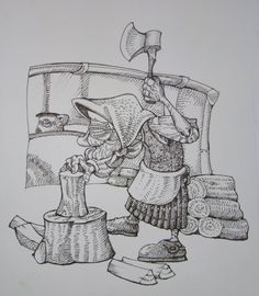 Cigus Vilma by balgeza on DeviantArt My Drawings, Ink, Deviantart, Illustration, India Ink, Illustrations