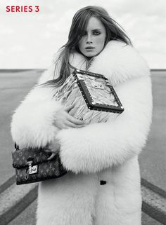 Louis Vuitton releases new campaign by Bruce Weber & Juergen Teller starring Ex Machina actress Alicia Vikander Bruce Weber, Alicia Vikander, Liya Kebede, Nicolas Ghesquière, Juergen Teller, Jennifer Connelly, White Fur Coat, Fur Fashion, Fashion Trends