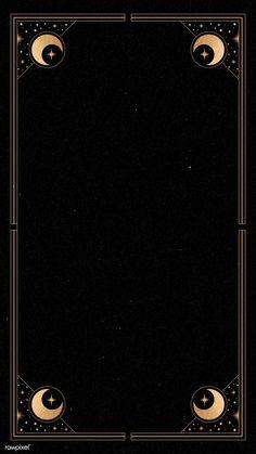 phone wallpaper moon Mystical gold frame on black background mobile phone wall… – Phone backgrounds Mystic Wallpaper, Witchy Wallpaper, Handy Wallpaper, Gold Wallpaper, Black Background Wallpaper, Black Backgrounds, Wallpaper Backgrounds, Black Phone Wallpaper, Mystic Backgrounds