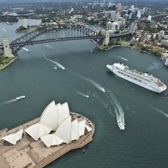 @POCruises - Pacific Jewel makes her way under the Sydney Harbour Bridge in this spectacular James Morgan image.