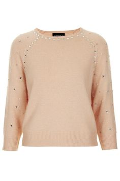 Topshop knitted embellished jumper