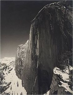 Bid now on Monolith, The Face of Half Dome by Ansel Adams. View a wide Variety of artworks by Ansel Adams, now available for sale on artnet Auctions. Black And White Landscape, Black N White Images, Black White, Famous Photographers, Landscape Photographers, Stunning Photography, Nature Photography, Urban Photography, Color Photography