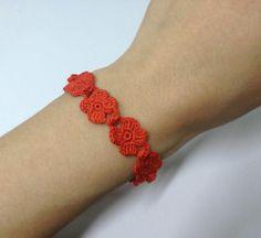 Cruciani style bracelet crochet pattern