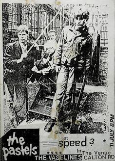 """soundofyoungscotland:  The Pastels + The Vaselines - Flyer for Speed 3, Edinburgh (circa 1987) original  ©simonm1965   """
