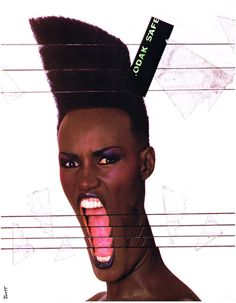 80s Record Party - Poster for Slave To The Rhythm Grace Jones, ZTT...