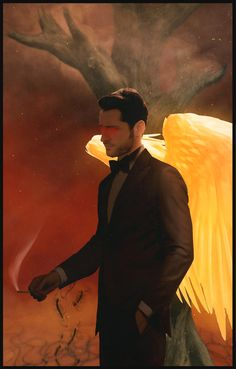Lucifer Comic (after) by Mitashade on DeviantArt Lucifer Wings, Tom Ellis Lucifer, Iron Man Wallpaper, American Gods, Music Artwork, Morning Star, Dark Photography, Angels And Demons, Cute Cartoon Wallpapers