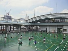 This is what recess looks like in Tokyo, Japan. How can you encourage schools near you to keep recess? School Recess, Mini Tour, British Schools, American Photo, Mombasa, Pause, Play Soccer, Slums, Contemporary Photography