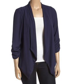 Another great find on #zulily! Navy Open Cardigan - Plus #zulilyfinds