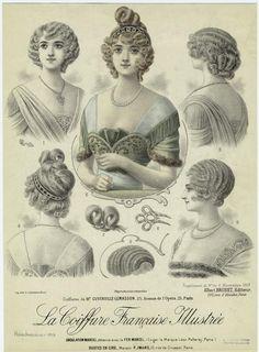 coiffure de Mr Cuverville Lemasson 25 avenue de l'opera 1913