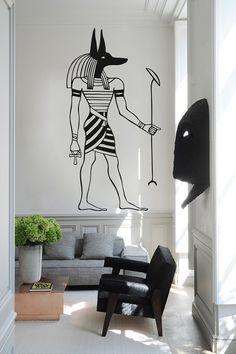 Kik991 Wall Decal Sticker Egyptian God Anubis Egypt Living Room Bedroom