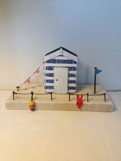Driftwood Seaside Beach Hut by CoastCottages on Etsy, £19.00