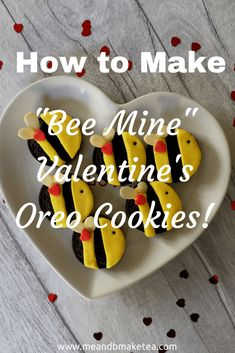if you are a regular Pinterest user, you will see that the site is chocka full of #Valentine's ideas. Try these bee #Oreo cookies - super easy and super fun! Do you do anything for Valentine's for your toddlers or young kids? I haven't in the past but thought I'd try something out which came to me one night in bed. Turning Oreo cookies into cute bumble bees. Why? Well because they are cute, yummy and toddlers will love them.
