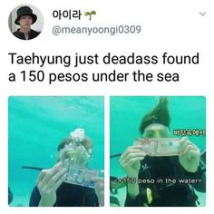 and jungkook grabbed a fish out of the water what is with BTS and water