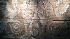 painting on wood,shop behind San Spirito,Florence