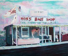 Bait Shop, 16x20, acrylic painting,-Kimberly Delgado