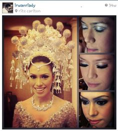 Beautiful suntiang of Minangkabau bride