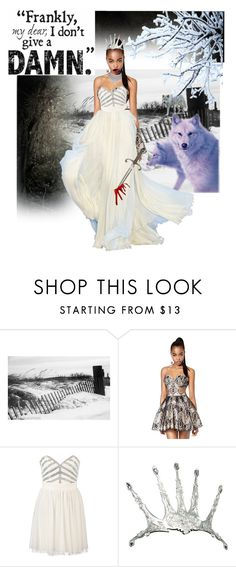 """""""When she is near your heart turns to stone....."""" by kenzeeniquole ❤ liked on Polyvore featuring Nasty Gal, Elie Saab, Lipsy and TIARA"""