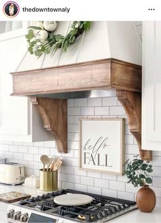 Kitchen Hood mantel and corbels Kitchen Hood mantel and cor Small Kitchen Remodel cor corbels Hood Kitchen kitchenremodelideas mantel Kitchen Redo, Kitchen And Bath, Farm House Kitchen Ideas, Diy Kitchen Makeover, Kitchen Ideas 2018, Kitchen Dining, Kitchen Vignettes, Kitchen Makeovers, Kitchen Sinks
