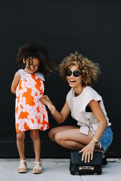 Glamorous Mommy and toddler street style