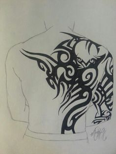 """Tribal #3"" - $10.00 - http://www.artbreak.com/stellar/works - Tribal tattoo drawing. {ink sketch art}"