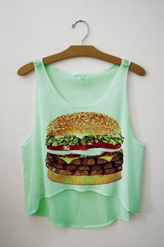 Lol so cute mint crop top