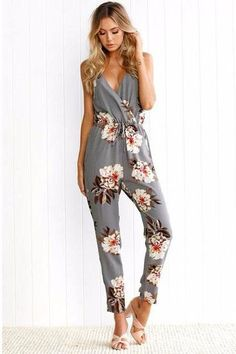Cosygal Backless Summer Romper High Waist Jumpsuit Deep V Neck Overalls Sexy Side Spilt Jumpsuits Rompers Combinaison Femme Making Things Convenient For The People Jumpsuits