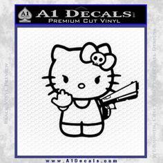 Hello Kitty Finger Gun Decal Sticker