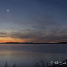 #månen och #venus lyser över #Skeppsdal #nightphotography #nattfoto
