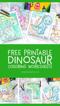 Here are the Beautiful Free Printable Dinosaur Coloring Pages. This post about Beautiful Free Printable Dinosaur Coloring Pages was posted under the . Art Activities For Kids, Worksheets For Kids, Kindergarten Activities, Art For Kids, Activity Pages For Kids Free Printables, Art Children, Vocabulary Activities, Dinosaur Art Projects, Projects For Kids