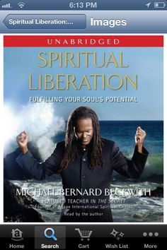 My current audiobook . As usual Michael Bernard Beckwith is amazing in his spiritual guidance.
