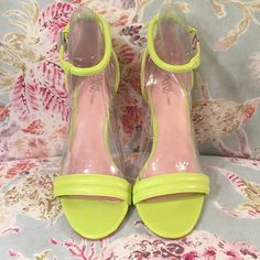Prabal Curung for target BNWOT Lime green minimalist style heel. Brand new, no tags. 4 inch heel. Price on these is firm, I am keeping if they do not sell. Prabal Gurung for Target Shoes Heels