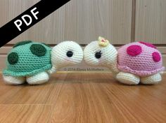 He encontrado este interesante anuncio de Etsy en https://www.etsy.com/es/listing/217786882/crochet-amigurumi-turtles-pdf-written