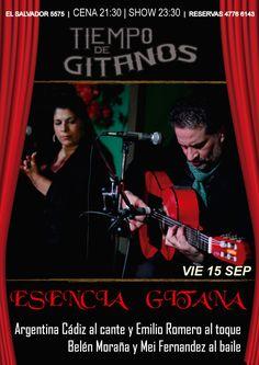 Noche especial de Esencia Gitana!!!  No te lo pierdas! Reservas 4776 6143 Cena Show, Movie Posters, Movies, Flamingo, Night, 2016 Movies, Film Poster, Films, Popcorn Posters