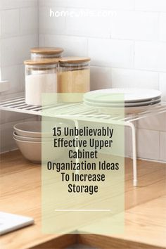 Low on kitchen cabinets storage space? Have trouble finding what you need? Here are 15 organization ideas that'll keep your cabinet clutter free and looking organized. If you love to cook, then you'll surely find these tips useful.Start organizing your upper and lower cabinets now with these 15 organization ideas! #homewhis #cabinetorganization #homeorganization #pantryorganization #spiceorganization #declutter Small Kitchen Organization, Fridge Organization, Organization Ideas, Organizing, Spice Holder, Spice Rack Organiser, Sink Organizer, Cabinet Spice Rack, Small Cabinet