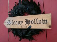 just got this sign, now I need to find a feather wreath like this one