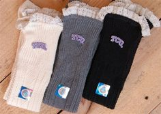 TCU Boot Socks - $32, free shipping/TCU boot socks available in off white, charcoal, and gray.