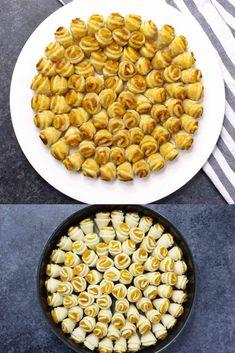 Pumpkin Pull Apart Pie - Print Recipe Jump to Recipe So I have to confess to being a year-round pumpkin pie buff. Bite Size Desserts, Köstliche Desserts, Delicious Desserts, Dessert Recipes, Yummy Food, Pumpkin Recipes, Pie Recipes, Fall Recipes, Cooking Recipes