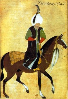 Osmanlı Tarihi: Sultan Süleyman'ın, ömrünün son zamanlarında, atı üzerinde resmedildiği bir minyatür