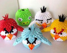 3D origami oiseau en colère