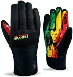 New Dakine Crossfire Glove Men's Snowboard Ski Gloves Rasta Medium | eBay
