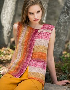 Book Woman Sport 92 Spring / Summer | 36: Woman Vest | Beige-Yellow-Orange-Rose