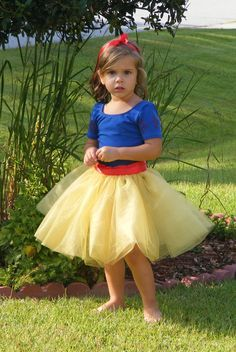 yellow tulle skirt pink ribbon - Google Search