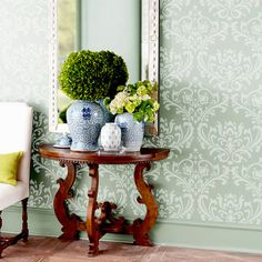 Wall Stencil  Damask Allower Pattern Wall Room Decor Made by OMG Stencils Home Improvements Color Paintings 0017