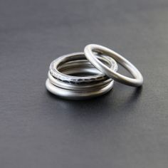 cuatro - stack - rings  recycled sterling silver