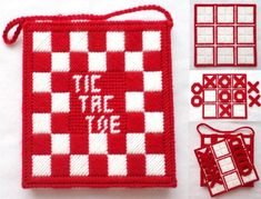Plastic Canvas Crafts, Plastic Canvas Patterns, Scotch, Kleenex Box, Tic Tac Toe Game, 4 Ply Yarn, Tote Storage, Different Games, Game Pieces