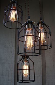 So, we have a list of some industrial lighting fixtures that you'll love for your interior design style. Rustic Lighting, Industrial Lighting, Vintage Lighting, Cool Lighting, Interior Lighting, Lighting Design, Lighting Ideas, Lighting Stores, Edison Lighting