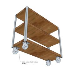 Ana White Build a Easiest Industrial Cart Free and Easy DIY Project and Furniture Plans Diy Industrial Interior, Industrial Interior Design, Industrial House, Industrial Interiors, Modern Industrial, Industrial Pipe, Woodworking Bench For Sale, Woodworking Store, Woodworking Projects