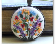 Fashion Necklace Floral Pendant Fashion by VintageFloralJewel