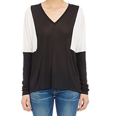 Vince colorblock shirt Super chic, great closet stable.  NWT - perfect condition.  No trade and no lowball offer, thanks! Vince Tops Tees - Long Sleeve